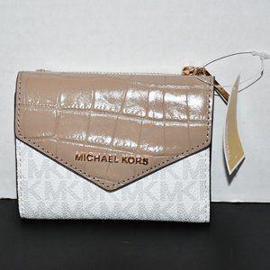 Michael Kors  Jet Set Medium Card Wallet in Truffl
